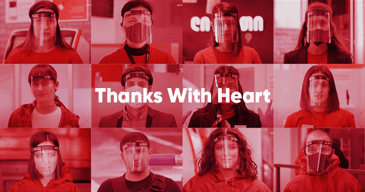 Thanks with heart